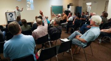Pascal Gagneux en conference sur les origines humaines / San Diego, California (avril, 2018)