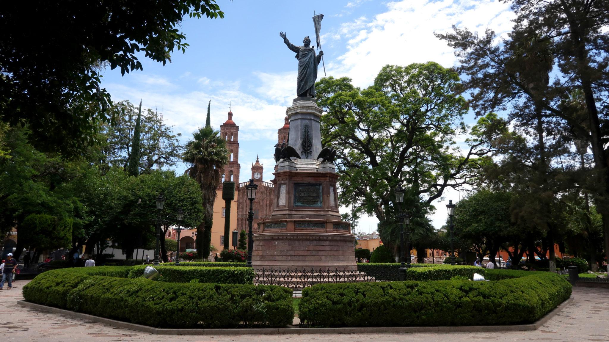 Plaza principal de Dolores Hidalgo, Guanajuato.