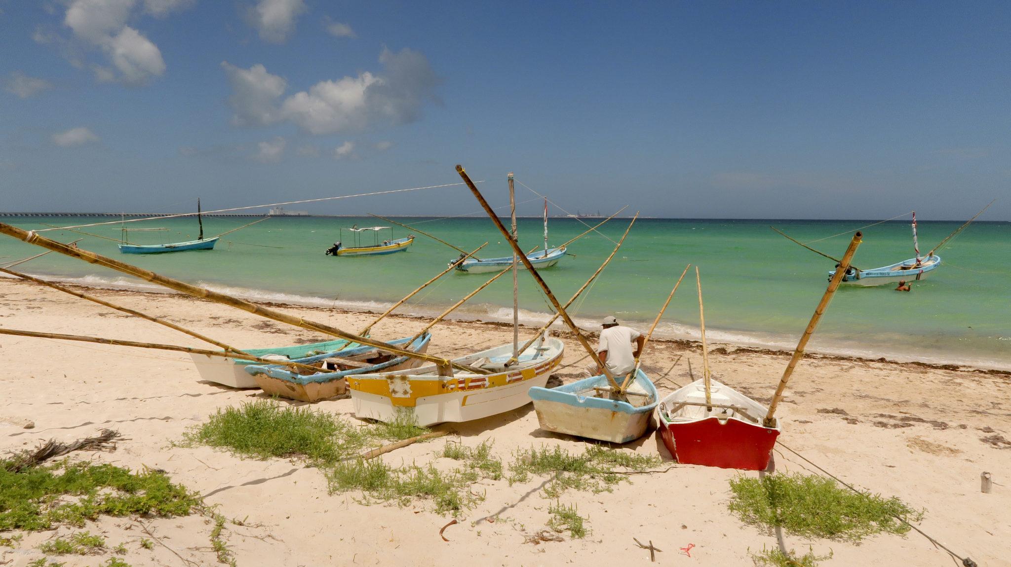 Playa de Progreso, Yucatán.