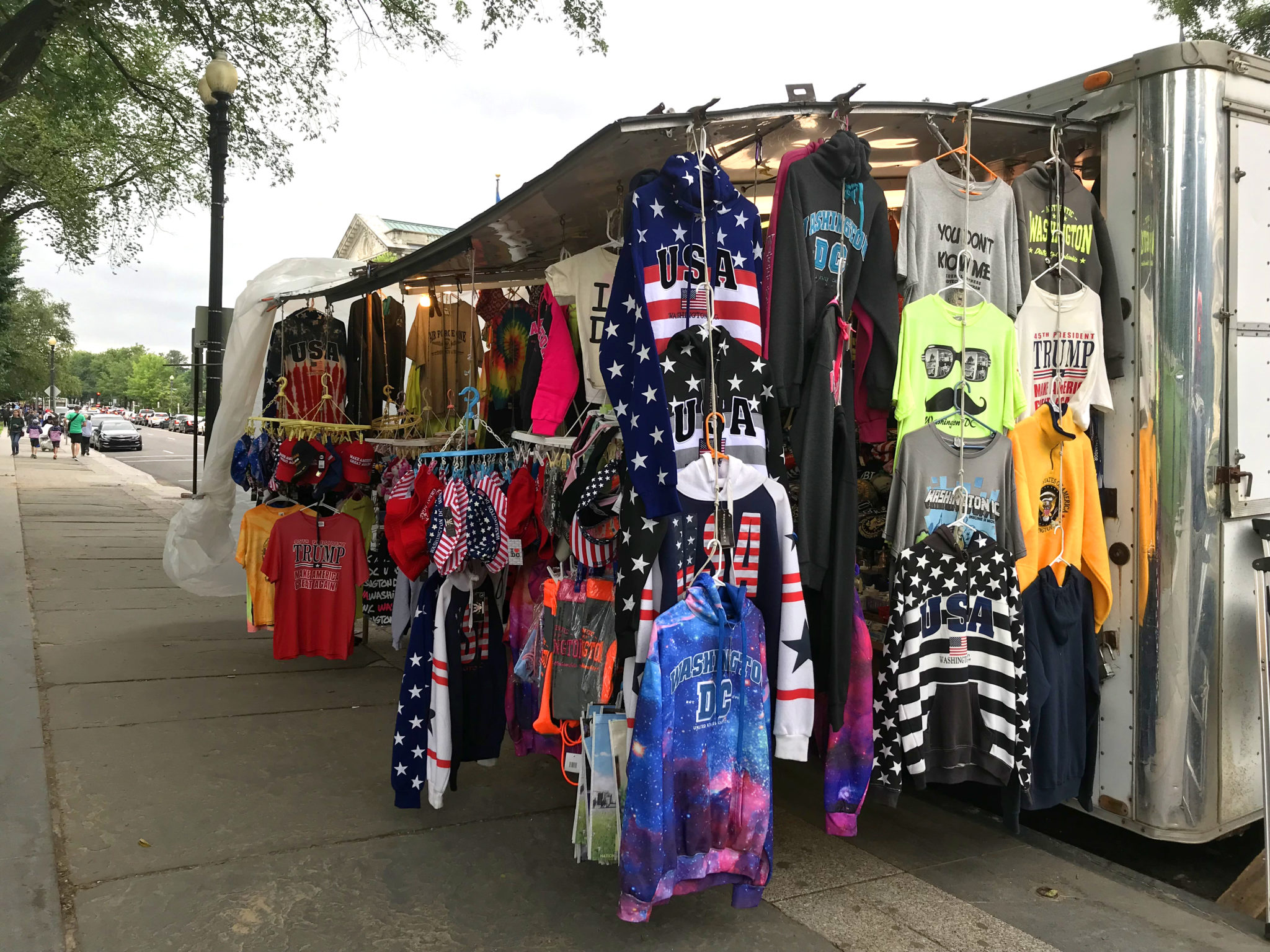 "Vente de ""vêtements patriotes"", Washington DC."