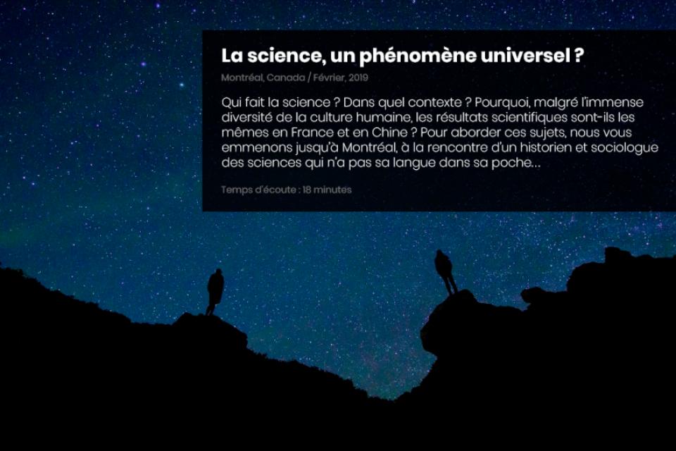 La science, un phénomène universel ?